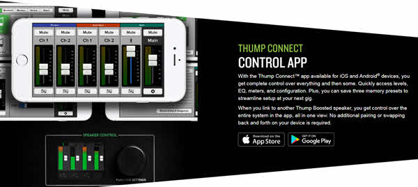 Mackie Thump15BST Control APP Panel