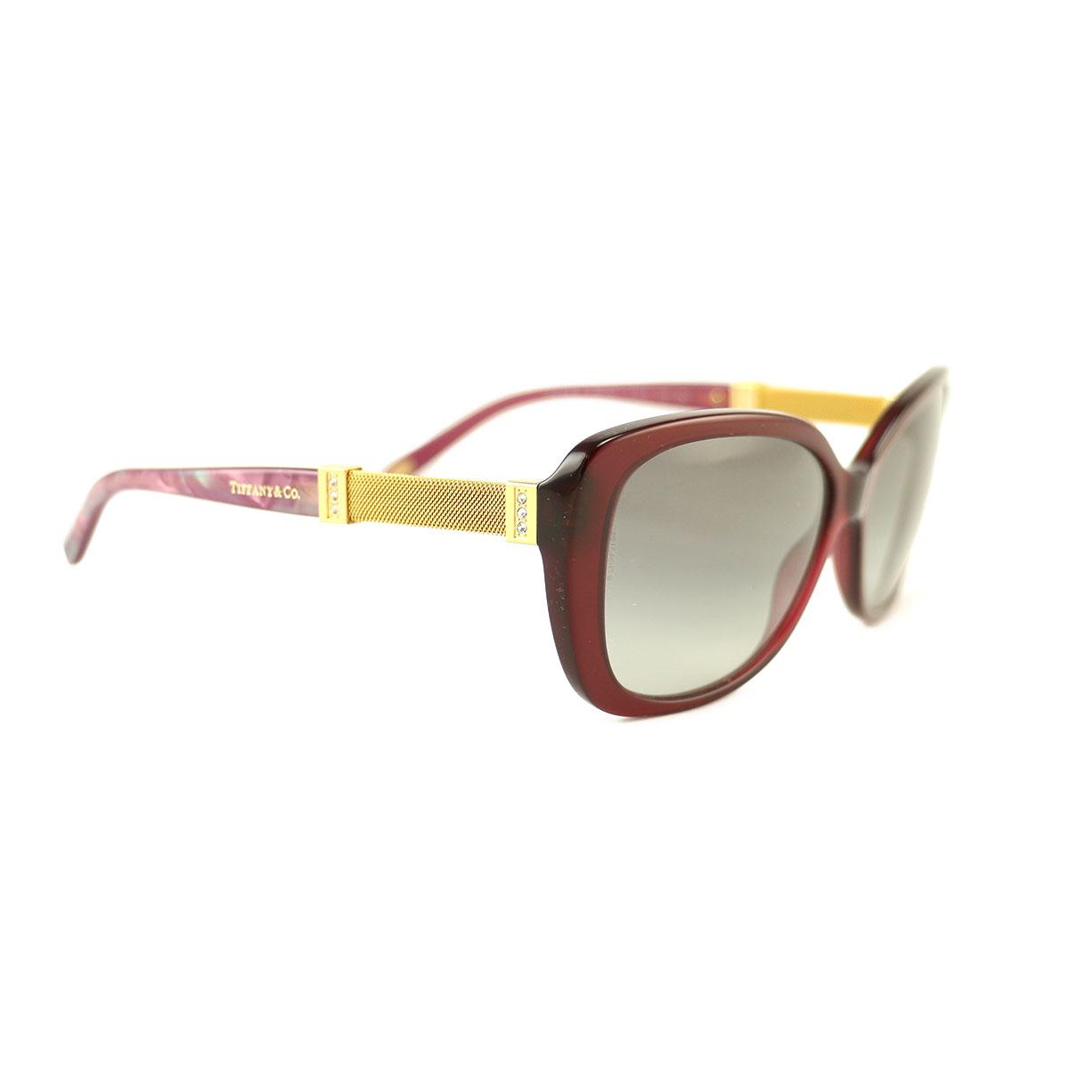 e1ea8091ddce New Tiffany   Co. Sunglasses TF 4106-B-8003-3C Wine Gold Acetate 57 15 140