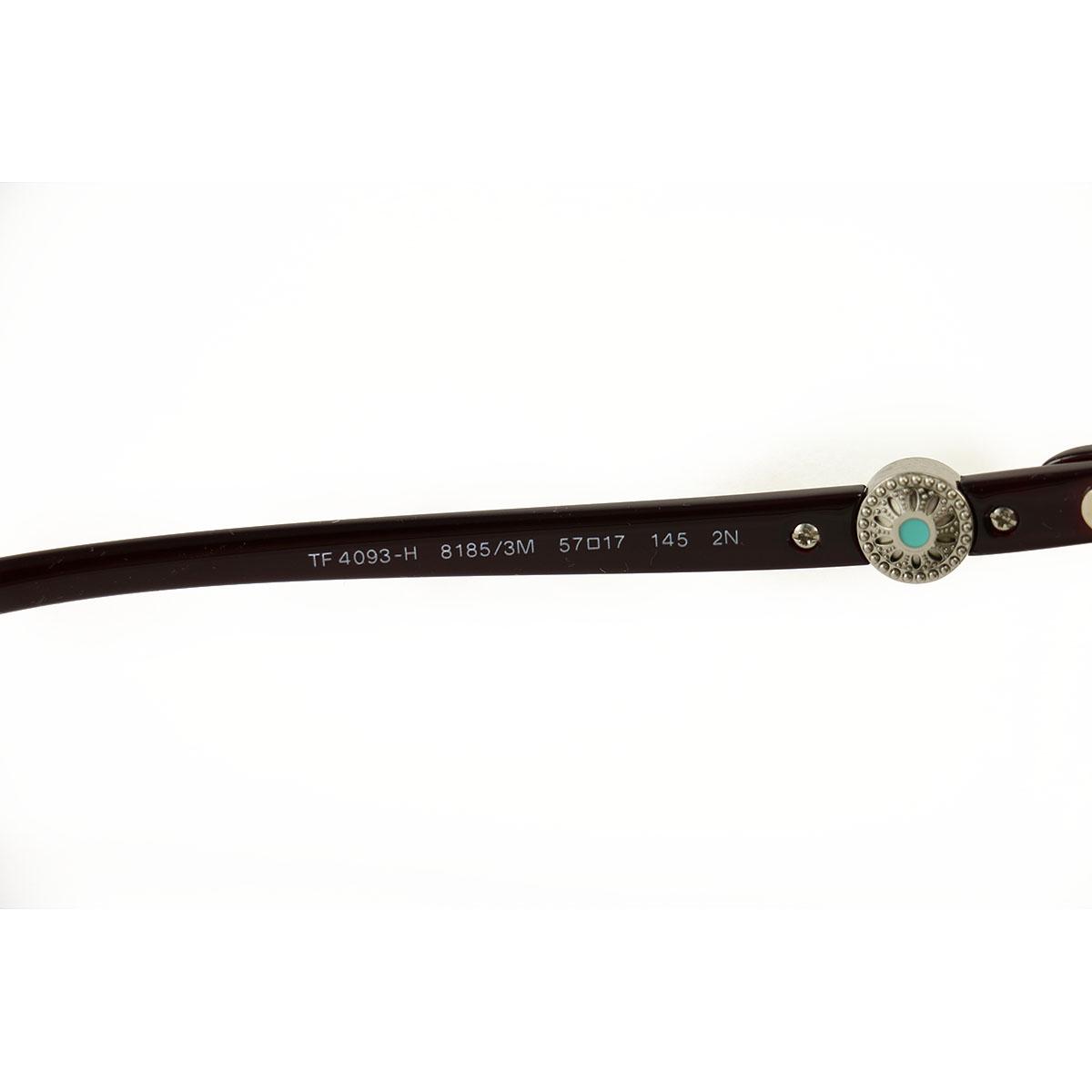 254328554a2f New Tiffany   Co. Sunglasses TF 4093-H-8185-3M Wine Pearls Acetate 57 17 145