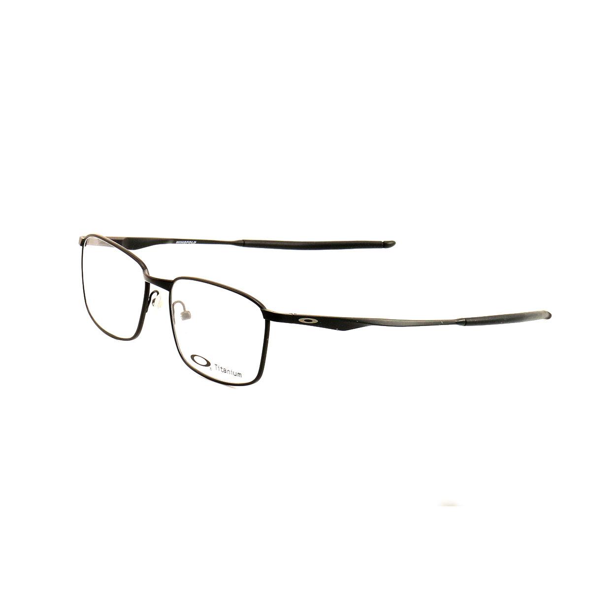 8e0c7260ada Oakley Wingfold Eyeglasses OX5100 01 Satin Black 52 16 139 Titanium Demo  lens