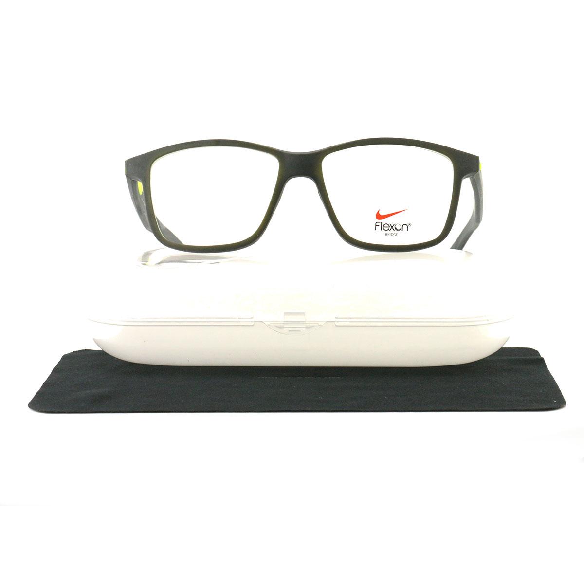 c2cf703c291 Nike Eyeglasses NIKE 4265 079 Antharcite Volt 54 16 145 Rubber Demo Lens