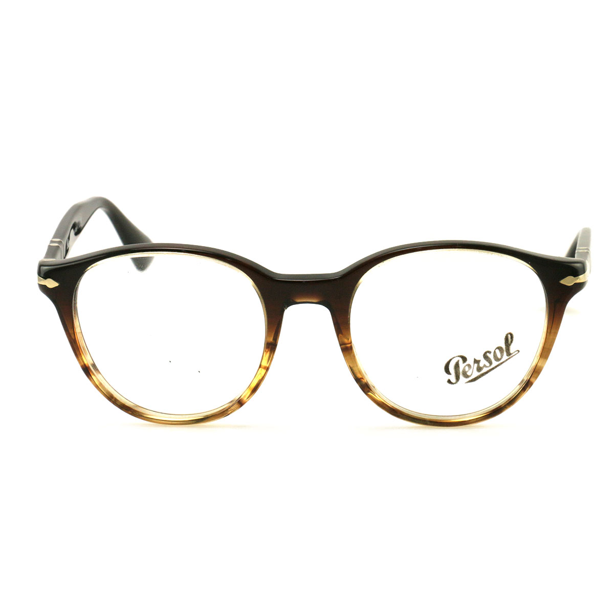 8caa83192f Persol Eyeglasses PO 3153-V 1026 Striped Brown Plastic 50 20 145 Demo Lens