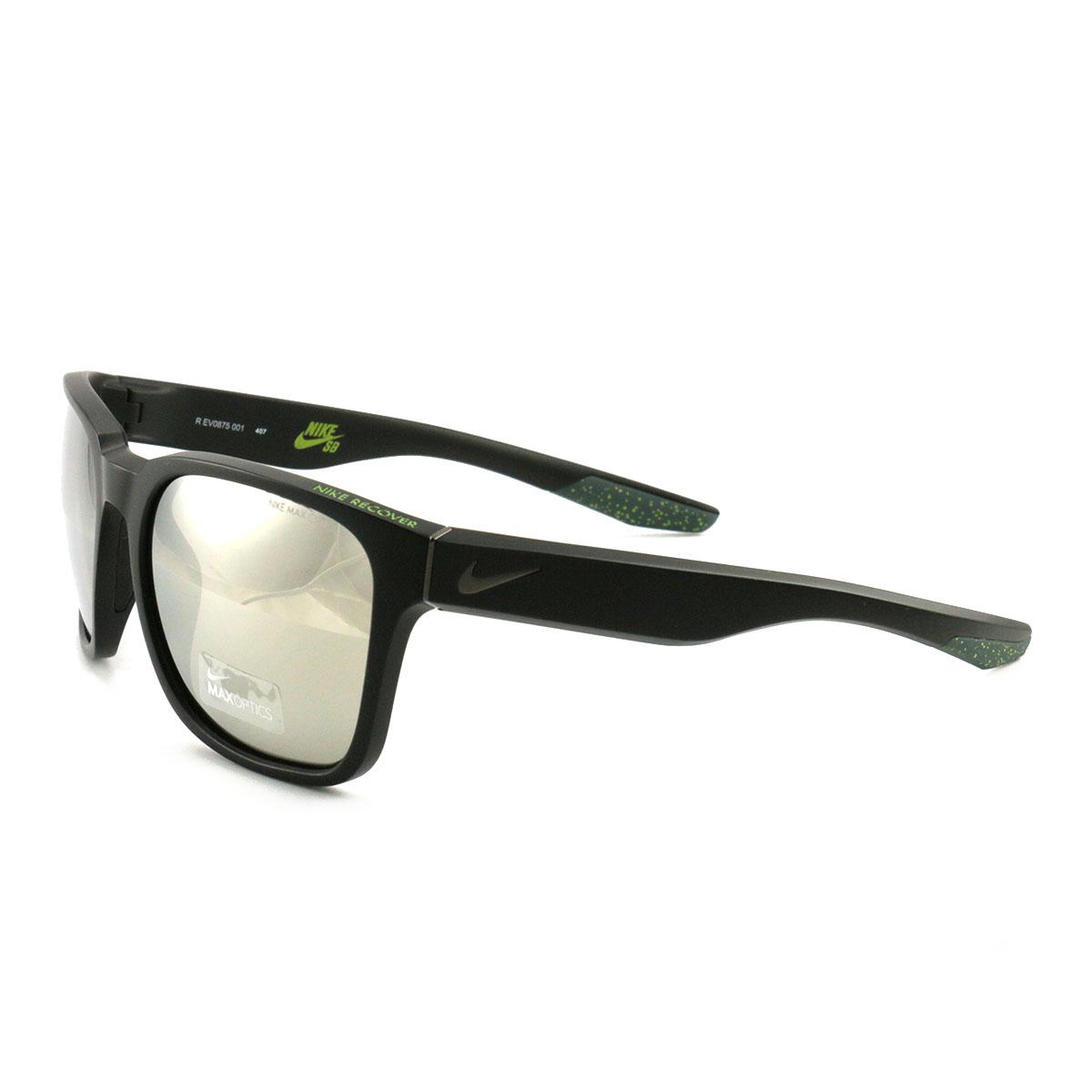 771e120d346c Nike SB Recover R Sunglasses EV0875 001 Matte Black/Gunmetal 57 20 140