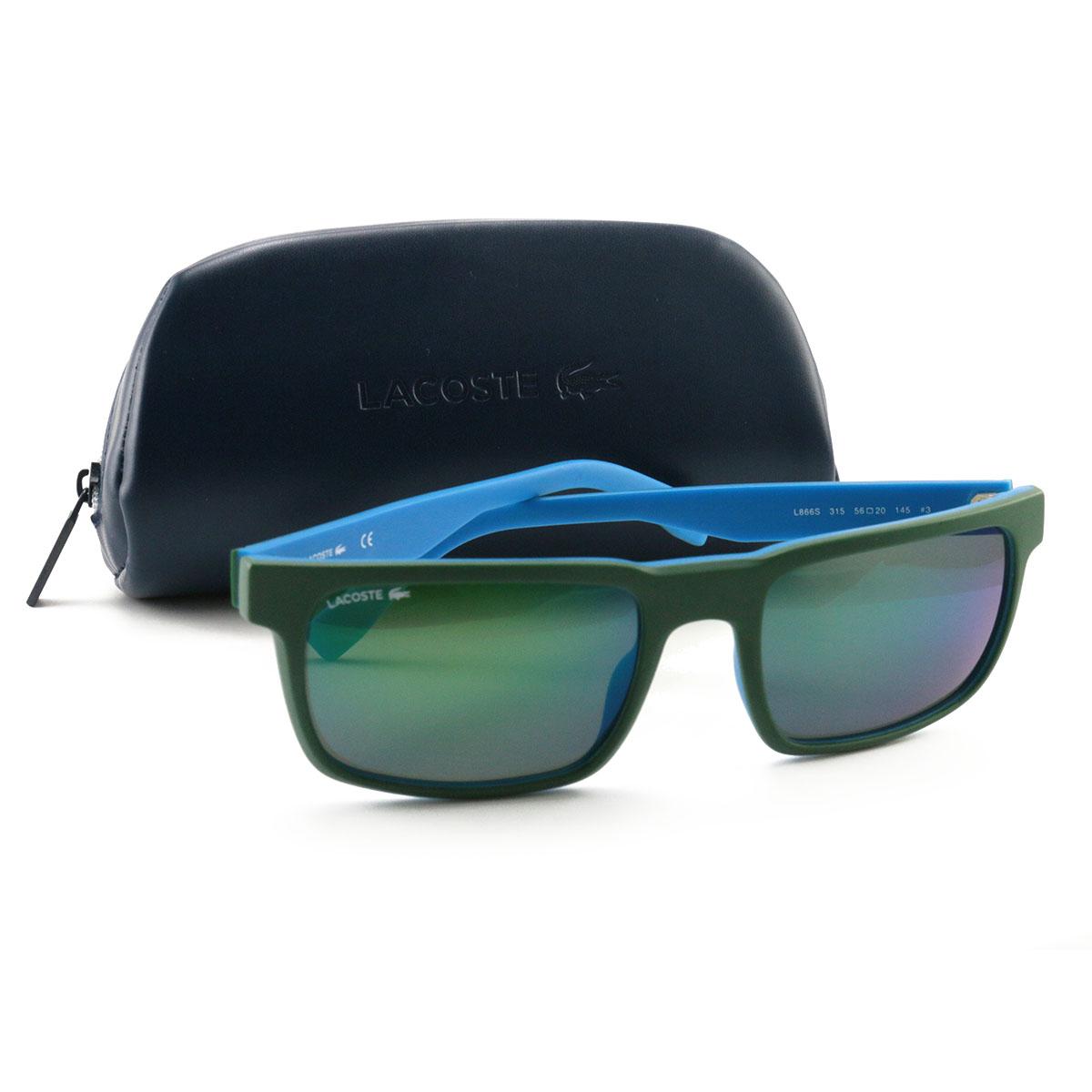3511c64e218 Details about Lacoste Sunglasses L866S 315 Matte Green Grenn Flash 56 20  145 Mirror