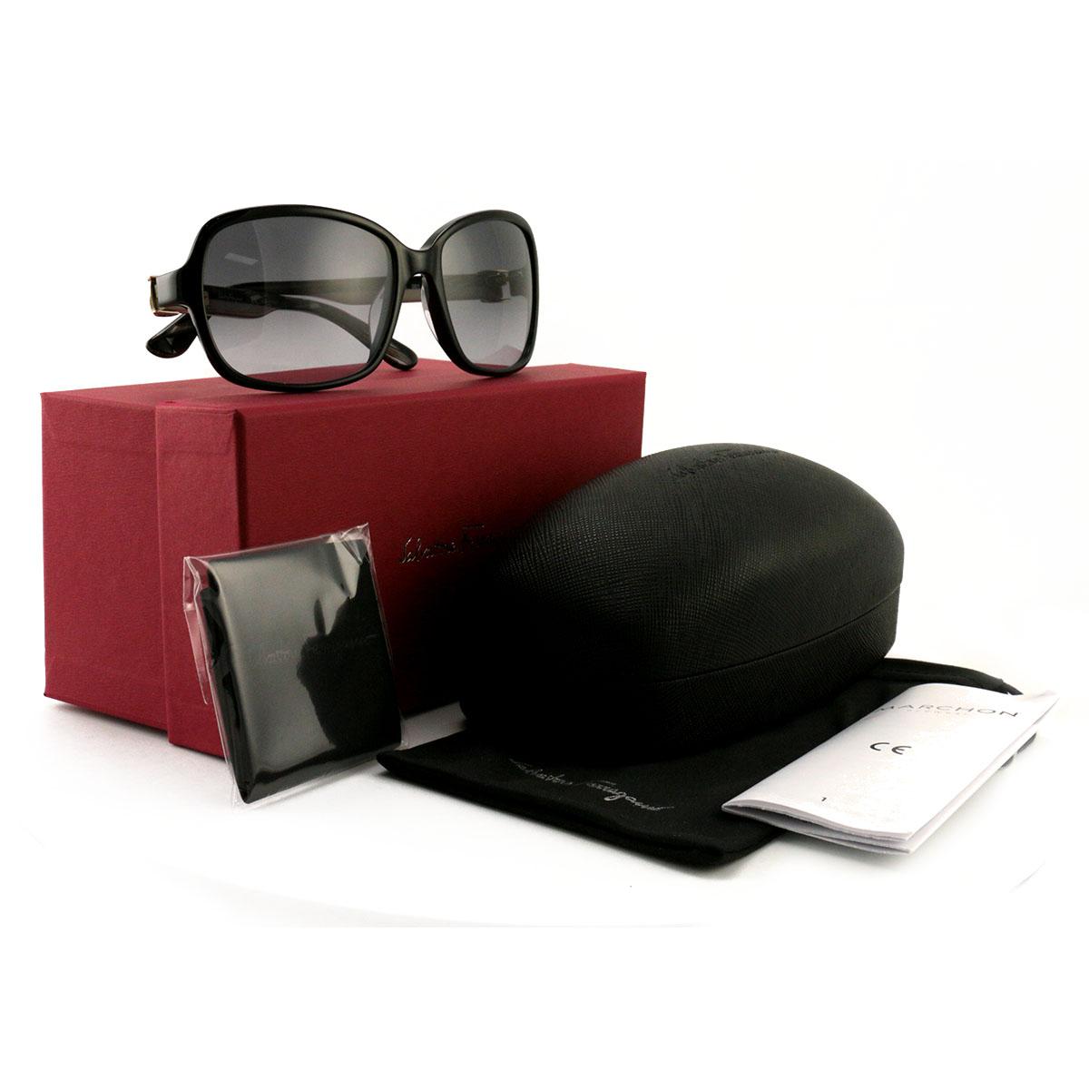 6191f48df7 Details about Salvatore Ferragamo Women´s Sunglasses SF606S 001 Black 58 17  130