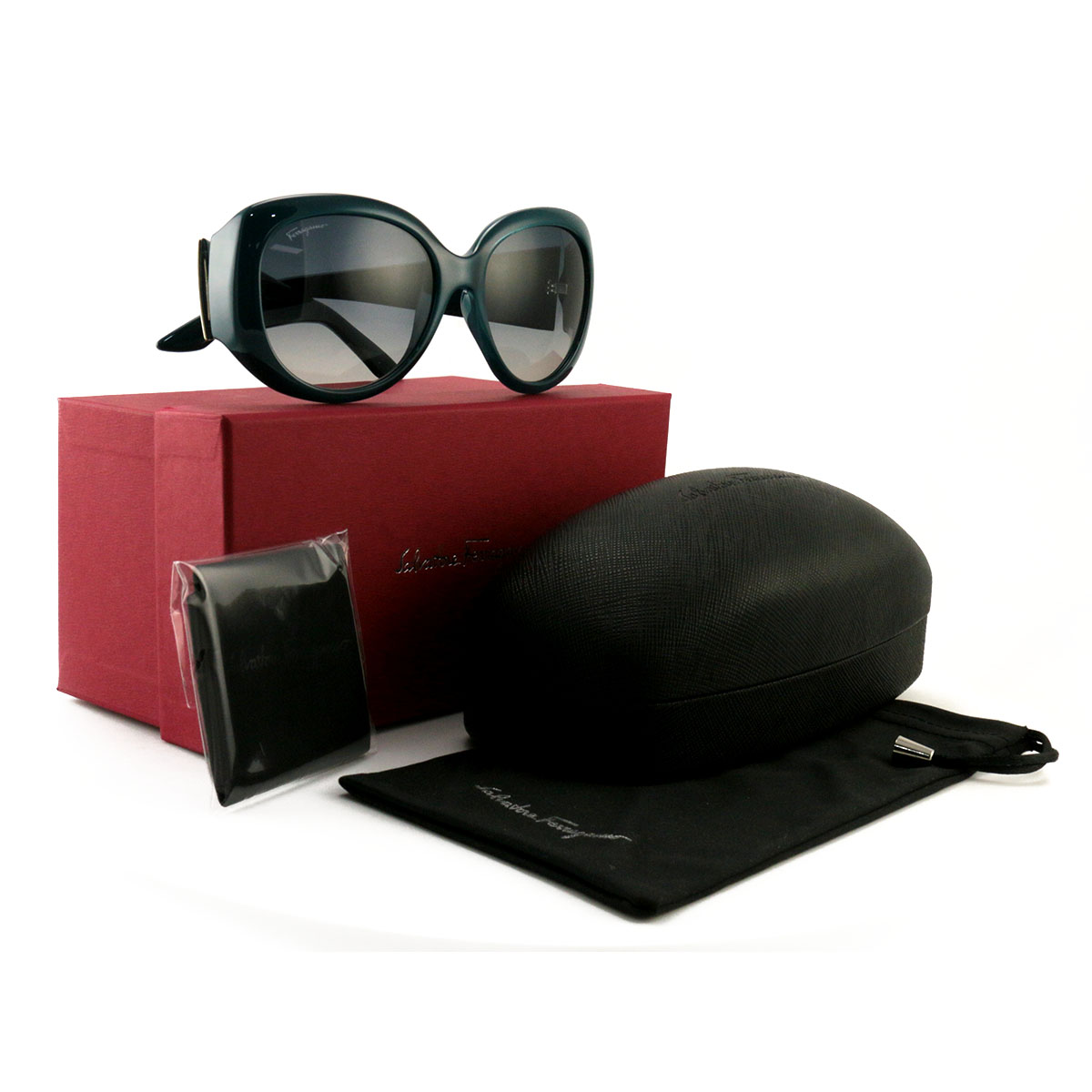 acb180d6eba Details about Salvatore Ferragamo Women´s Sunglasses SF721S 416 Petrol Blue  55 17 130