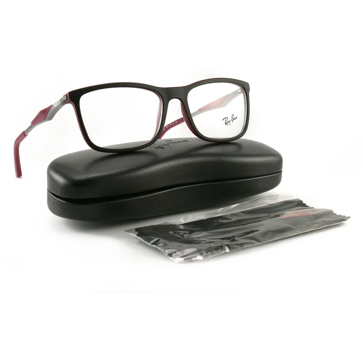 625dcb7ba0 Details about Ray Ban Men Eyeglasses RX7029 5259 Top Black Matte 55 17 145  Demo Lens Lifestyle
